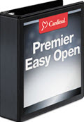 Cardinal Easy-Open Clearvue Extra-Wide Locking Slant-D Binder 2