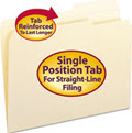 Guide Height Folder Reinforced Top Tab - 100 File Folders