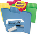 Erasable Supertab File Folders Letter Assorted Colors - Pack of 24 Folders