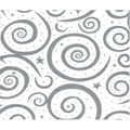 Tissue Paper 20 x 30 Silver Swirls on White - 1 Ream of 240 Sheets