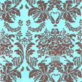 Brown Aqua Damask Tissue Paper 20 x 30 - 1 ream of 200 Sheets