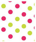 Pink and Green Dots Tissue Paper 20