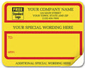 Yellow w/Red Borders & Additional Wording Shipping Labels, Padded - 250 Count