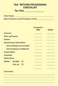 Tax Return Processing Checklist - Post it Notes - 5 pads