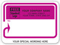 Pink Banner and Arrow Mailing Labels Padded - 250 Count