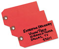 Shipping Tags Paper 4 3/4 X 2 3/8 Red - 1,000 Tags