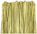 Gold Metallic Twist Ties, Size Choice - 2,000 ties