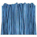 Blue Metallic Twist Ties, 4 inch - 2,000 ties