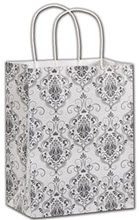 Damask Shoppers 8 1/4 x 4 3/4 x 10 1/2  -  100 Bags