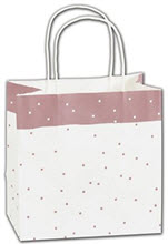 Rose Dots Shoppers 8 x 5 x 8  -  100 Bags