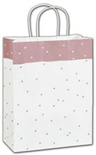 Rose Dots Shoppers 10 x 5 x 13  -  100 Bags