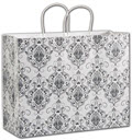 Damask Shoppers 16 x 6 x 12 1/2  -  100 bags