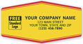 Tuff Shield Company Labels Yellow With Red - 250 Count