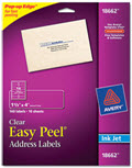 Clear Easy Peel Mailing Seals and Labels Inkjet 1 1/3 X 4 - 140 Labels