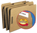 11 Point Kraft Folders, Two Fasteners, 13 Cut Top Tab - 50 Folders