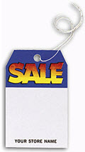 Blue and Yellow Sale Tag - 250 tags