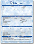 One-Sided Registration Form, Bright Skies Design - 3 pads of 100 forms each