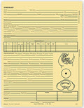 Gynecology Exam Records, Two - Sided, Letter Style, Buff - 100 records