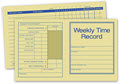 Pocket Size Weekly Time Records - 250 Records