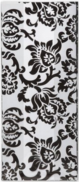 Patterned Cello Bags Black Damask 4