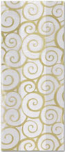 Patterned Cello Bags, Euro Swirl Gold, 5