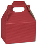 Red Varnish Striped Gable Boxes, 6 x 4 x 4 - 100 Boxes