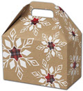 Plaid Snowflakes Gable Boxes, 8 1/2 x 5 x 5 1/2 - 6 Boxes