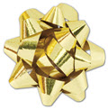 Metallic Gold Jeweler's Size Star Bow 16 Loops 1 1/4 inch, 300 Bows