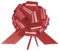 Red Satin Perfect Pull Bows, 18 Loops, 4 inch - 50 Bows