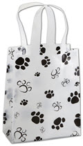 Paws Frosted Shoppers 8 x 4 x 10  -  100 Bags