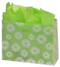 Daisy Die Cut Clear Frosted Shoppers 16 x 6 x 12 - 100 Bags