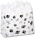 Paws Frosted Shoppers 16 x 6 x 12 - 100 Bags
