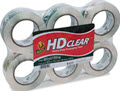 Heavy-Duty Carton Packaging Tape Clear 110 Yd Rolls  -   6 Rolls