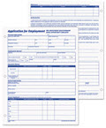 Employee Application Form - 2 Packs of 50 Forms each