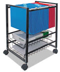 Mobile File Cart with Sliding Baskets - 1 Cart
