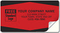 Padded Company Labels Red and Black - 250 Count