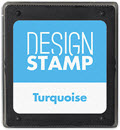 Turquoise Ink Pad for Design Stamp  -  1 Pad