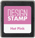 Hot Pink Ink Pad for Design Stamp  - 1  Pad