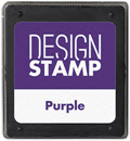 Purple Ink Pad for Design Stamp  -  1 Pad