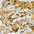 Gold & White Metallic Filler Shred - One 10lb Box