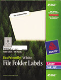 File Folder Labels, 2/3 x 3 7/16 -  1,500 Labels
