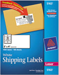 Shipping Labels Laser 2 X 4 White - Pack of 1,000
