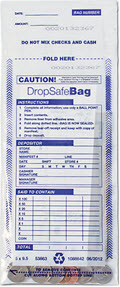 EGP Clear Drop Safe Style Money Handling Bag - 100 Bags