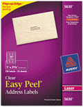 Clear Easy Peel Mailing Seals and Labels Laser 1 X 2 5/8  -  Pack of 750