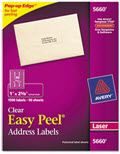 Clear Easy Peel Mailing Labels Laser - 1,500 Labels