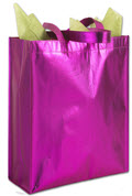 Pink Metallic Non-Woven Totes - 100 Tote Bags