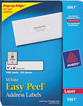 Easy Peel Laser Address Labels  1 x 4 -  5,000 Labels
