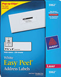 Easy Peel Laser Address Labels, 1 1/3 X 4 - 3,500 Labels