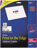 Color Printing Mailing Labels 1 1/4 X 2 3/8 - 1 Pack of 450 Labels