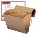 A-Z Indexed Expanding Files 21 Pockets Kraft Letter - 1 Folder